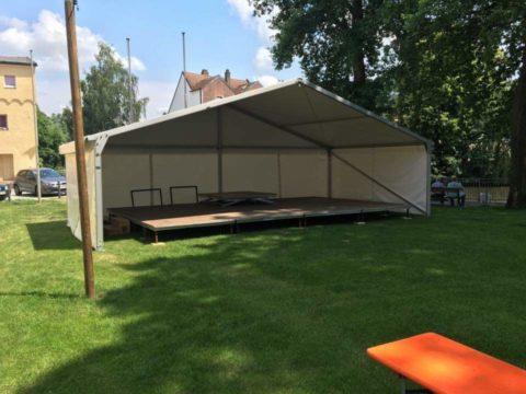 Fischerfest Bühnenüberdachung Zeltverleih & Eventmanagement Biersack
