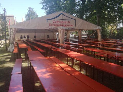Festzelt Biergarnituren Zeltverleih & Eventmanagement Biersack