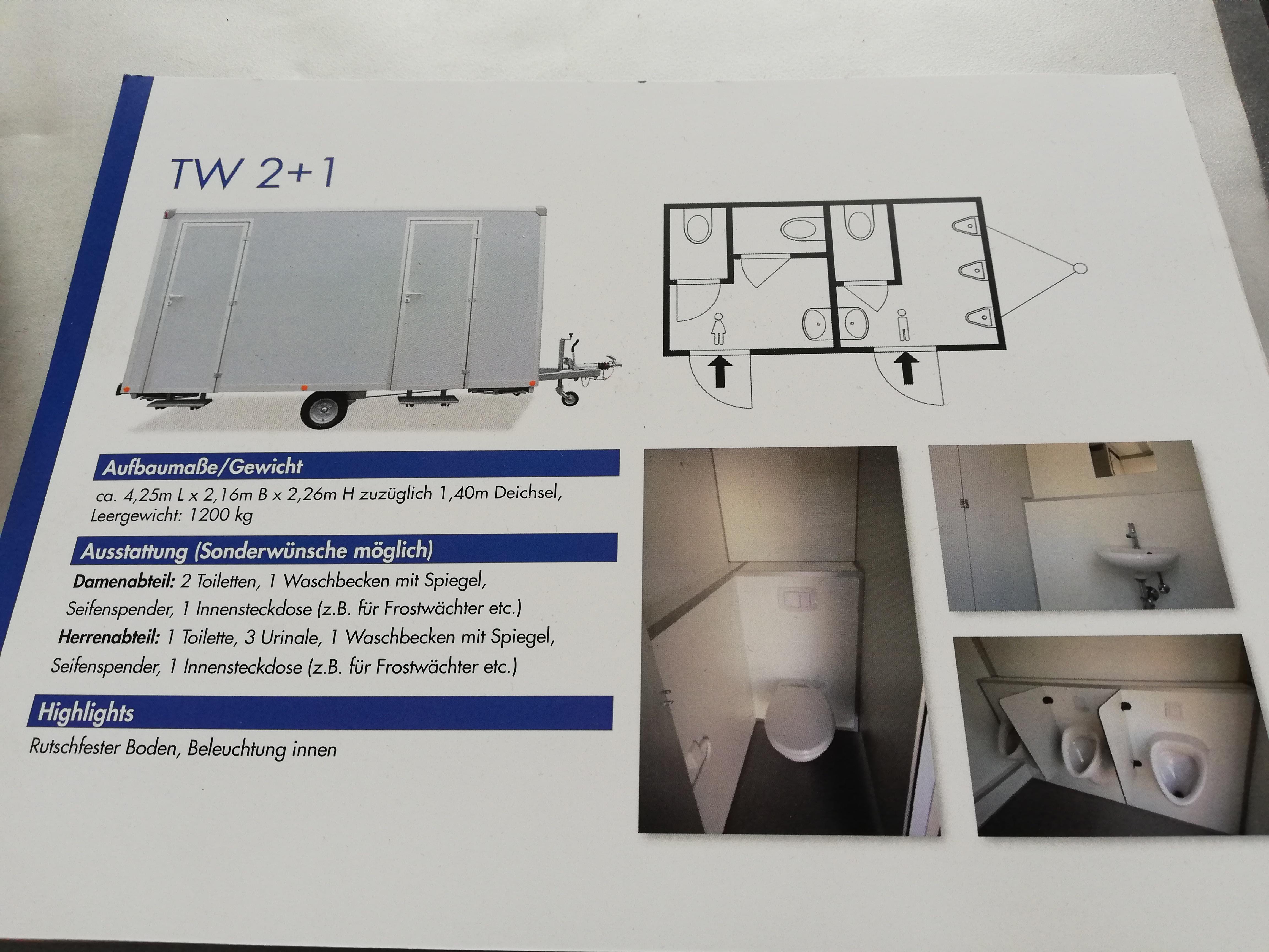 Toilettenwagen Verleih Zeltverleih & Eventmanagement Biersack
